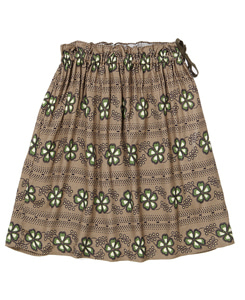 카라멜 AETNA SKIRT_POLKA FLOWER P/PUTTY