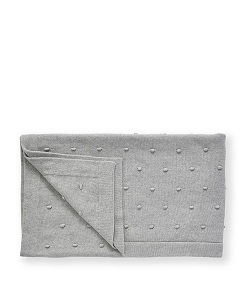나나후치 Bobble Baby Blanket-Sky Grey