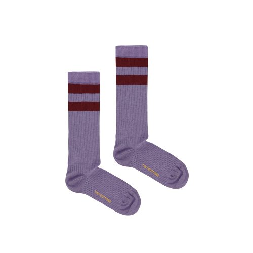 타이니코튼 STRIPES HIGH SOCKS_DARK LILAC