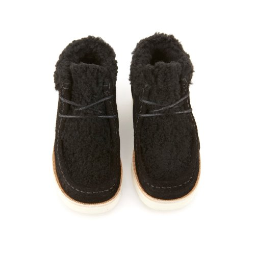 영솔슈즈 JOEY FUR WALLABEE BOOTS_STONE