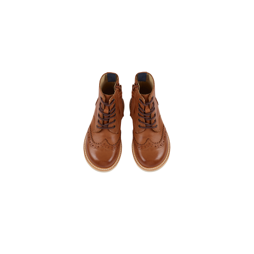 영솔슈즈 SIDNEY BROGUE BOOTS_TAN BURNISHED