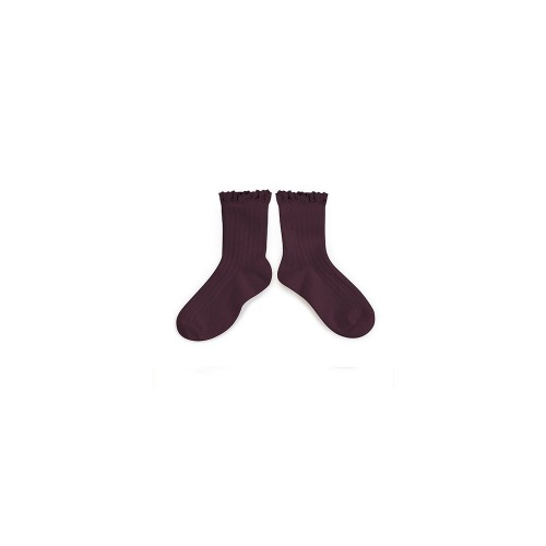 꼴레지앙 Lili Lace Trim Ankle Socks_auberglne(3455 886)