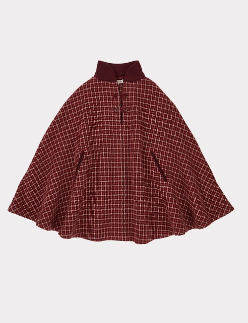 카라멜 LAPWING CAPE-RED/BERRY CHECK