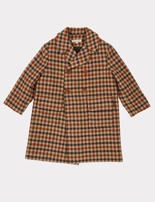 카라멜 EAGLE COAT-BEIGE WOOL CHECK